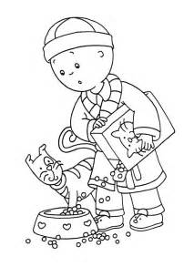 free printable caillou coloring pages for