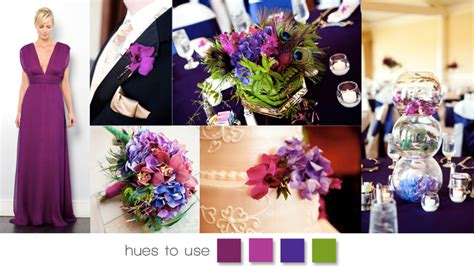 Wedding Team Colours by Plum And Peacock By The Blossom
