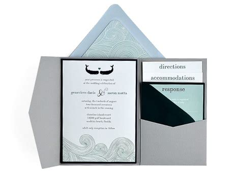 cards and pockets free templates waves free wedding invitation 5x7 template suite