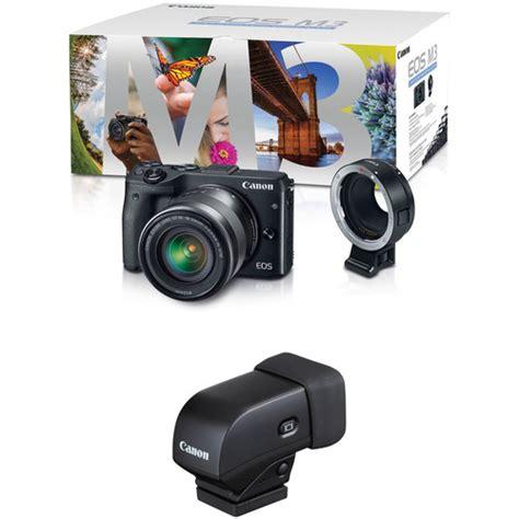 mirrorless viewfinder canon eos m3 mirrorless digital with 18 55mm lens lens