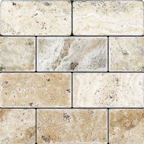 tumbled travertine 3x6 picasso tile stores glasses and travertine