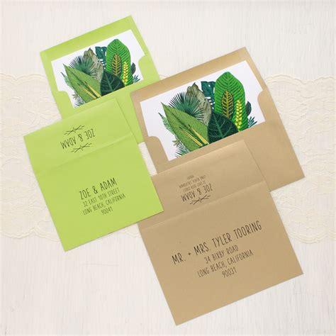 Leaf Wedding Invitations