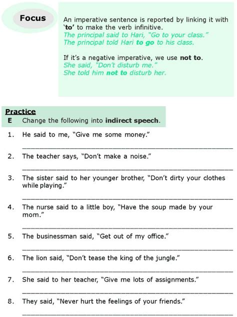 Who Reported Me On by Direct Indirect Speech Worksheet Pdf Grammar Lessons And On Pinterestgrammar Pinterestenglish