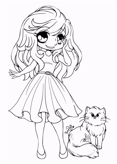 Yuff Coloring Chibi Coloring Pages Coloring Pages Chibi Coloring Pages