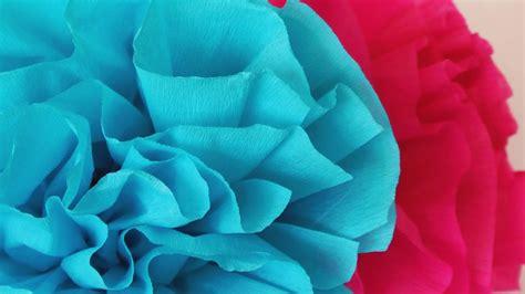 como hacer flores de papel crepe faciles y bonitas youtube c 243 mo hacer flores de papel crepe f 225 ciles manualidades