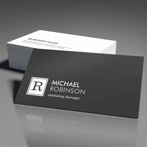 black and white business cards templates free modern professional monogram black white business card