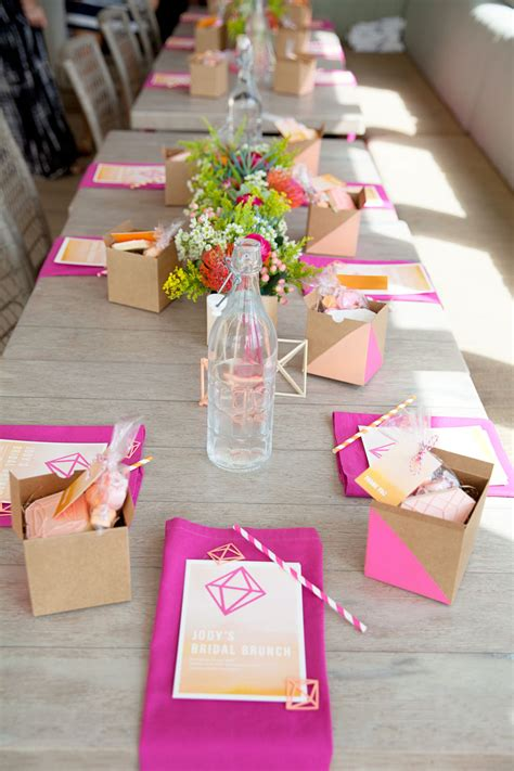 wedding shower table decorations bridal shower brunch diy tell and