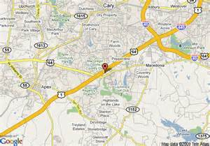 map of comfort suites cary cary