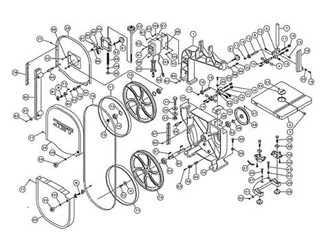 jet band saw parts diagram jet jwbs 14os band saw parts