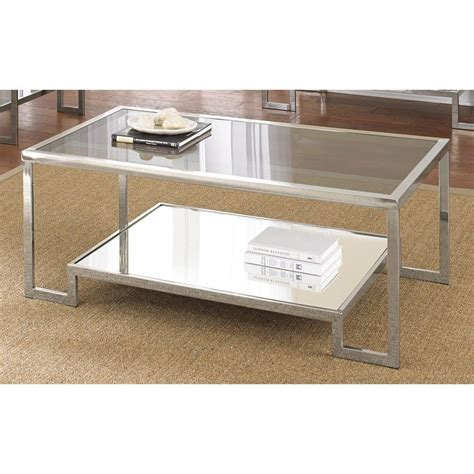 glass and chrome coffee table cordele chrome and glass coffee table furniture living