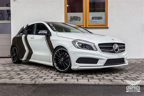 Auto Folierung Mercedes C Klasse by Mercedes Amg A Klasse Bond Gold Folierung Kw