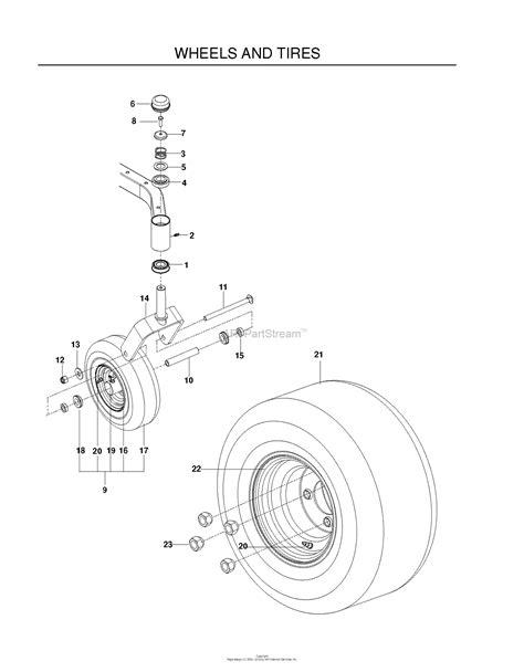 husqvarna rzf    parts diagram  wheels tires