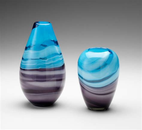 Turquoise Glass Vases by Turquoise Purple Glass Vase Callie By Cyan Design