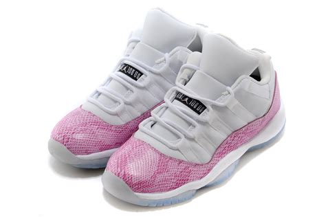 for sale air jordan 11 retro low pink snakeskin white