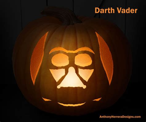 darth vader pumpkin template print and carve out wars pumpkins darth vader