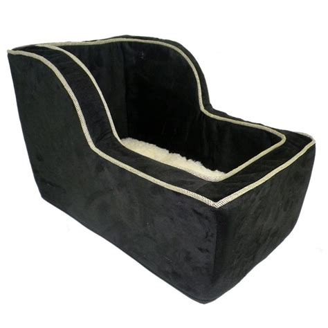 large car seat snoozer large high back suv console pet car booster seats black herringbone ebay