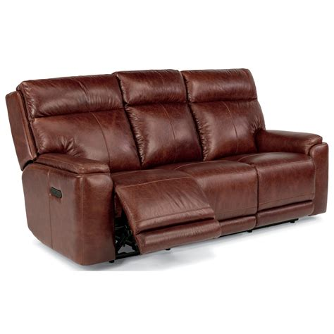 power reclining sofa with adjustable headrest flexsteel latitudes sienna 1675 62ph power reclining sofa