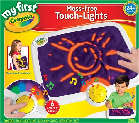 crayola christmas lights crayola my mess free touch lights a review of a product