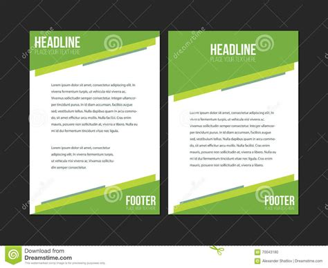 green brochure layout vector green white leaflet brochure flyer template book cover