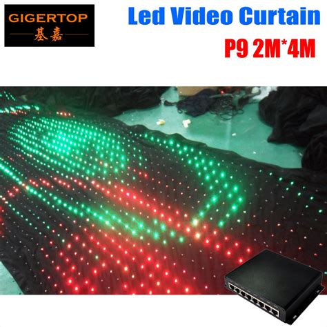 led video curtain p9 2m 4m pc mode controller led video curtain for wedding