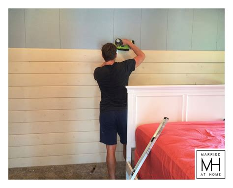 How To Create A Shiplap Wall Farmhouse Detail Shiplap Walls Married At Home
