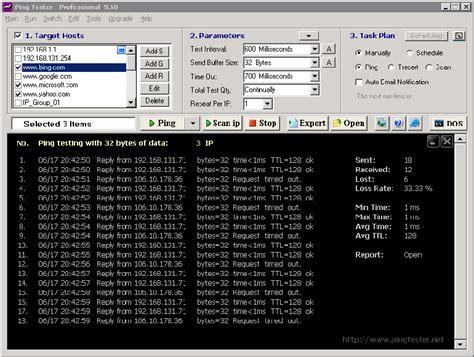 ing test ping tester visual ping test network test tool