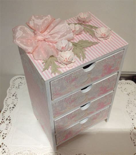 four drawer chest using mdf and shabby chic papers
