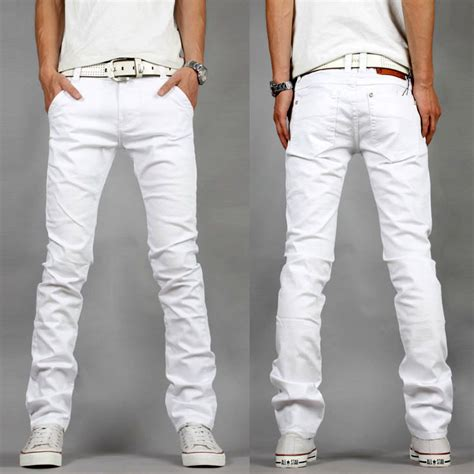 The White Jean Is All About And Summer by 2015 Summer New Mens White Slim Fit
