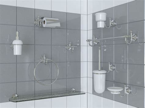 labor legno bathroom acsessories set 3d cgtrader