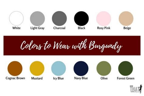colors that go with black what colors make burgundy burgundy color guide