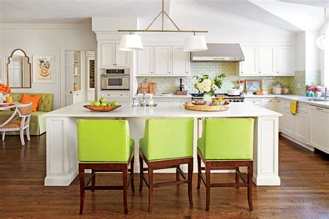 decorating kitchen island gathering island stylish kitchen island ideas southern living