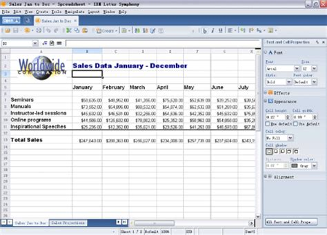 Lotus Spreadsheet Free by Open Source Office Suite Lotus Symphony Free Shipping In