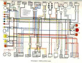 yamaha rd250 motorcycle electrical system wiring diagram binatani