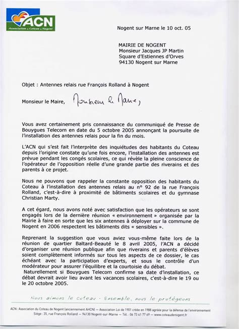 Demande De Salle Lettre Epub Lettre Reclamation Mairie Voirie