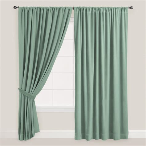 best curtains in the world blue surf velvet dual tab top curtain world market