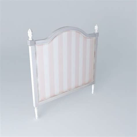 child headboard headboard child 140cm pink striped paris f 3d model max