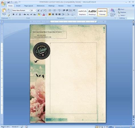 Letterhead Template In Microsoft Word Cxc Pinterest Microsoft Cover Page Templates