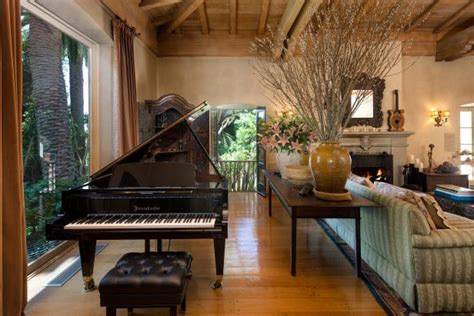 enchanting formal living room boasts baby grand piano hgtv