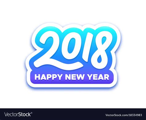 new year label vector happy new year 2018 paper label design royalty free vector