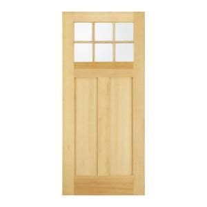 Exterior Wood Door Slab Jeld Wen Craftsman 6 Lite Unfinished Hemlock Slab Entry Door 36fir6ltslb At The Home Depot