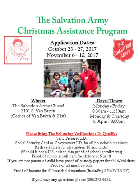 the salvation army christmas assistance program