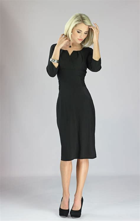 modest dresses katherine dress in black