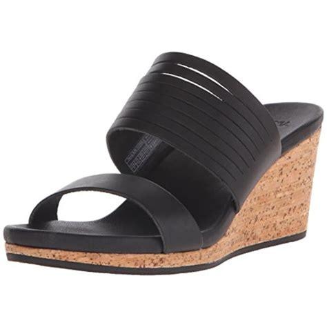 teva wedge sandals teva 2641 womens arrabelle black cork wedge sandals shoes
