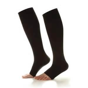 dr comfort compression socks dr comfort open toe knee high socks 20 30mmhg at ames walker