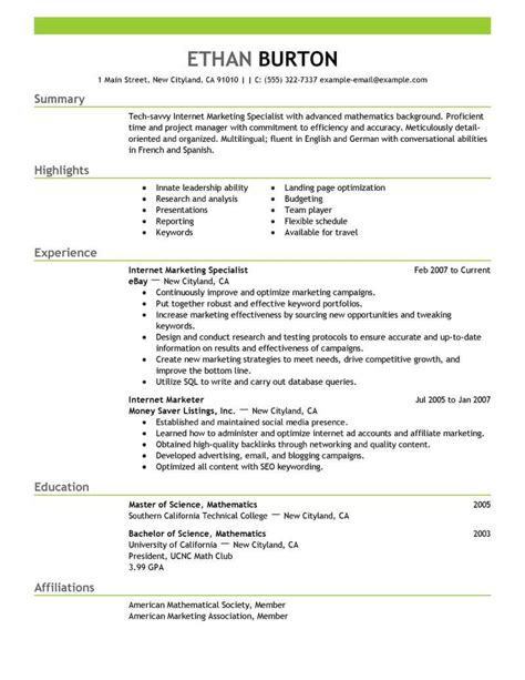 best online marketer and social media resume exle