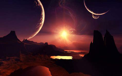 Landscape Definition In Science Sci Fi Planet Landscape Hd Wallpaper Dreamlovewallpapers