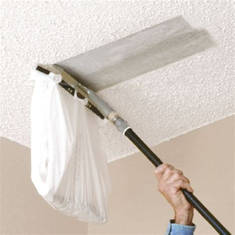 How To Remove Pop Corn Ceiling by You Can Attach A Plastic Bag To This Popcorn Ceiling Scraper From Homax To Make Scraping Your