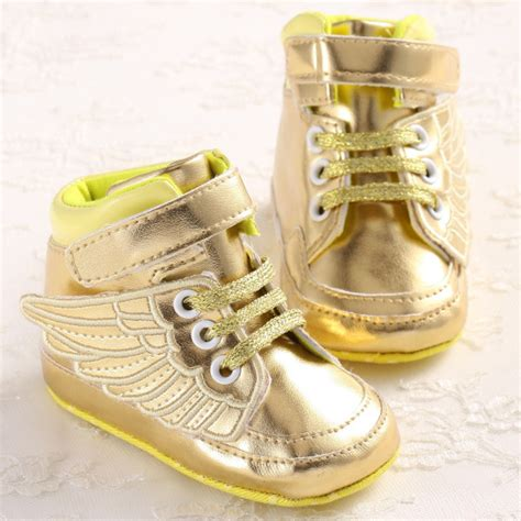 cool baby shoes buy golden black wings cool baby boy toddler crib