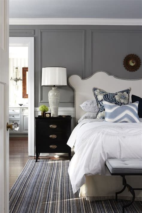 wainscoting headboard moldings source sarah richardson design elegant bedroom