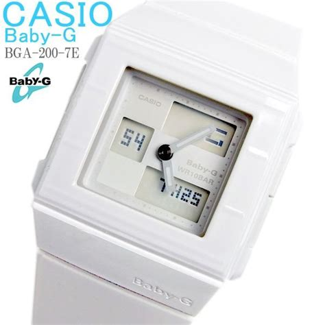 hapian ベビーg baby g カシオ casio 腕時計 レディース bga 200 7e 白 ホワイト
